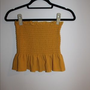 Yellow/orange tube top